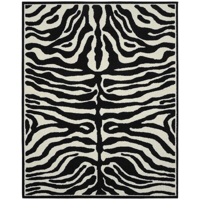 Safari Black/Ivory Area Rug Rug Size: 8 x 10