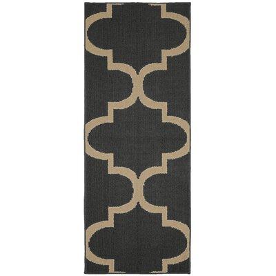Large Quatrefoil Cinder/Tan Area Rug Rug Size: Runner 2 x 5