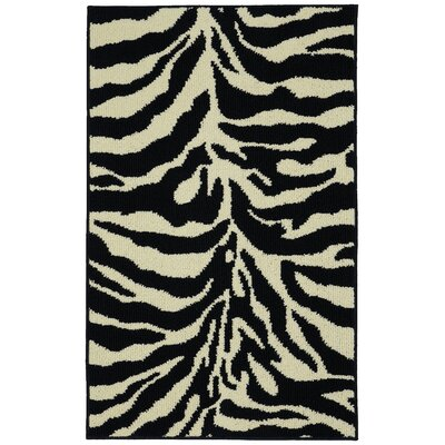 Safari Black/Ivory Area Rug Rug Size: 26 x 310
