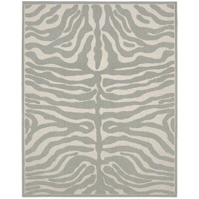 Safari Silver/Ivory Area Rug Rug Size: 5 x 7