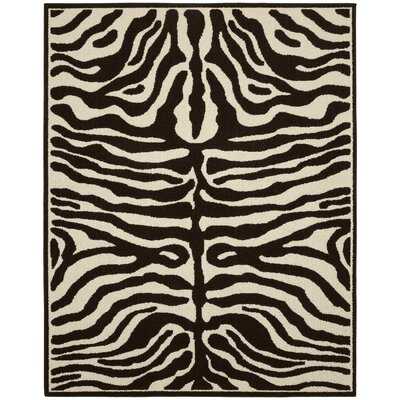 Safari Putty/Ivory Area Rug Rug Size: 26 x 310
