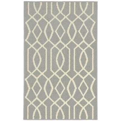 Fretwork Silver/Ivory Area Rug Rug Size: 8 x 10