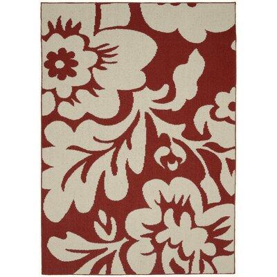 Floral Garden Santa Fe Coral/Ivory Area Rug Rug Size: 8 x 10