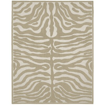 Safari Tan/Ivory Area Rug Rug Size: 8 x 10