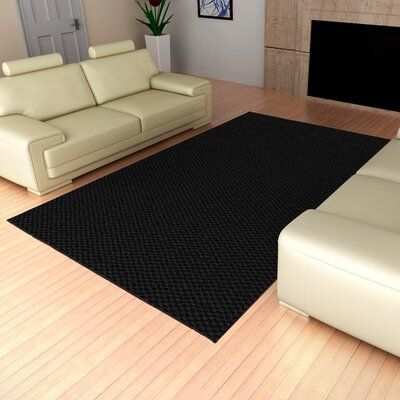 Esther Black Rug Rug Size: Rectangle 9 x 12