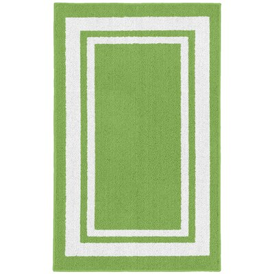 Ginger Green/White Indoor/Outdoor Area Rug Rug Size: 2 x 33