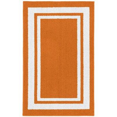 Ginger Orange/White Indoor/Outdoor Area Rug Rug Size: 2 x 33