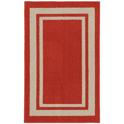 Ginger Red Indoor/Outdoor Area Rug Rug Size: 2 x 33