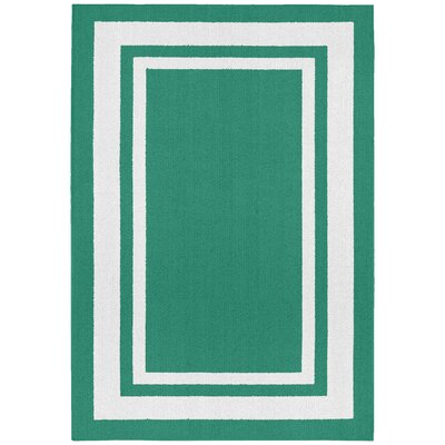 Ginger Green/White Indoor/Outdoor Area Rug Rug Size: 2 x 5