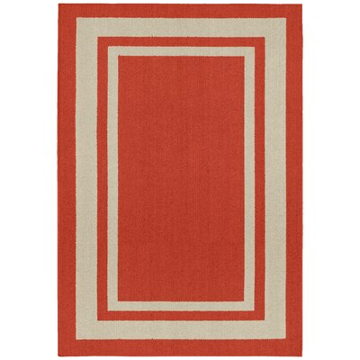 Ginger Red Indoor/Outdoor Area Rug Rug Size: 5 x 7