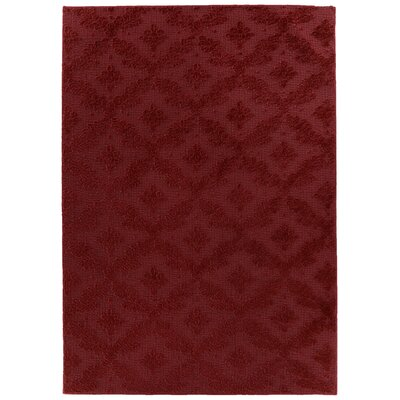 Spafford Red Area Rug Rug Size: Rectangle 6 x 9