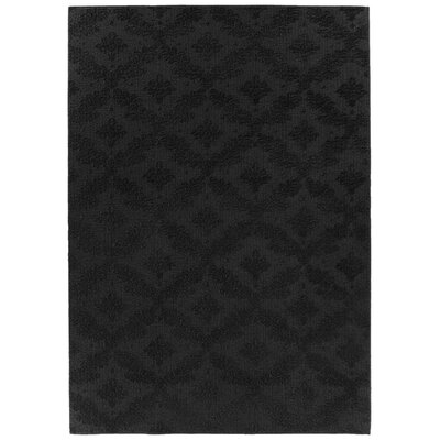 Spafford Black Area Rug Rug Size: Rectangle 6 x 9