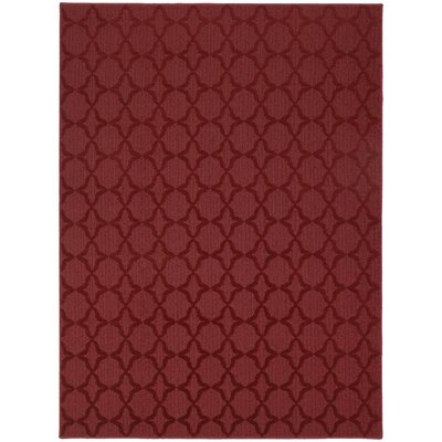 Southington Red Area Rug Rug Size: Rectangle 9 x 12