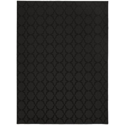 Southington Black Area Rug Rug Size: Square 12