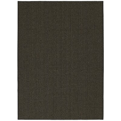 Black Berber Colorations Area Rug Rug Size: Rectangle 76 x 96