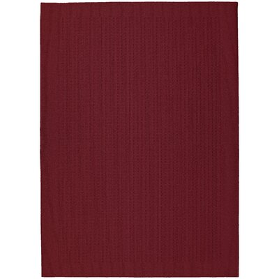 Garland Rug Magic Odor Eliminating Chili Red Herald Square Area Rug - Rug Size: 5' x 7'