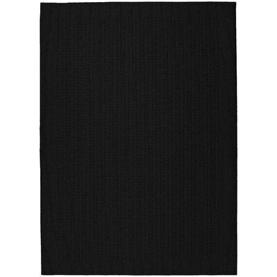 Black Herald Square Area Rug Rug Size: 76 x 96