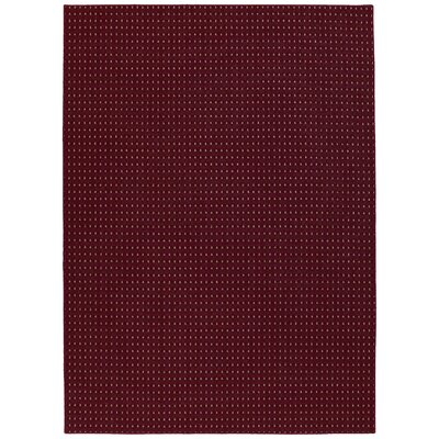 Red Jackson Rectangle Area Rug Rug Size: 76 x 96