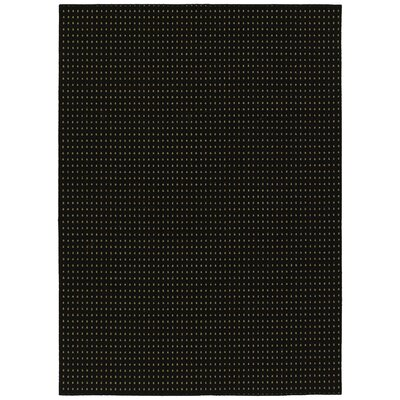 Black Jackson Square Area Rug Rug Size: Rectangle 5 x 7