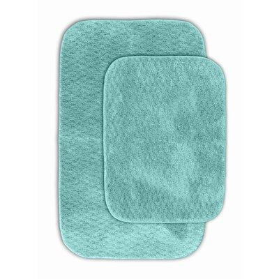 Cabernet Bath Rug Color: Sea Foam