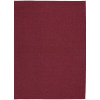 Chili Red Town Square Area Rug Rug Size: 76 x 96