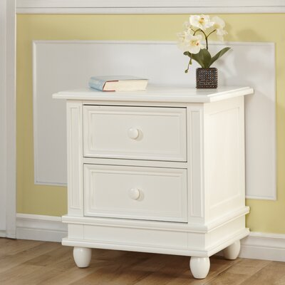 Marina 2 Drawer Nightstand Color: White
