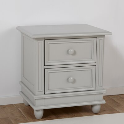 Marina 2 Drawer Nightstand Color: Stone