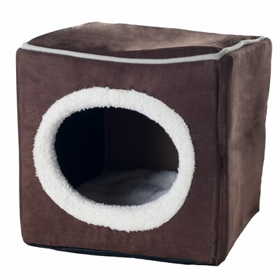 Roberta Cozy Cave Enclosed Cube Cat Bed Color: Dark Brown