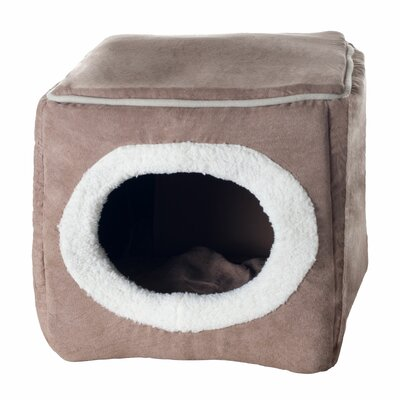 Roberta Cozy Cave Enclosed Cube Cat Bed Color: Light Brown