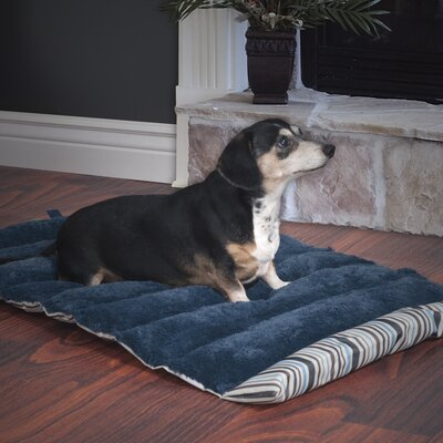 Roll-Up Portable Dog Bed Color: Blue