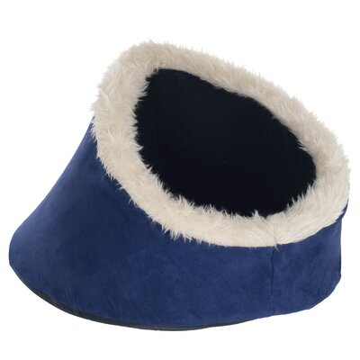Feline Comfort Cavern Cat Bed Color: Blue