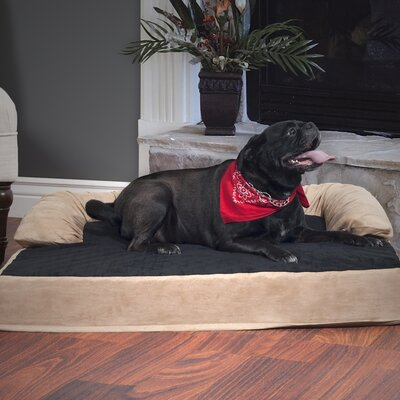 Pet Bed with Bolster Size: Large