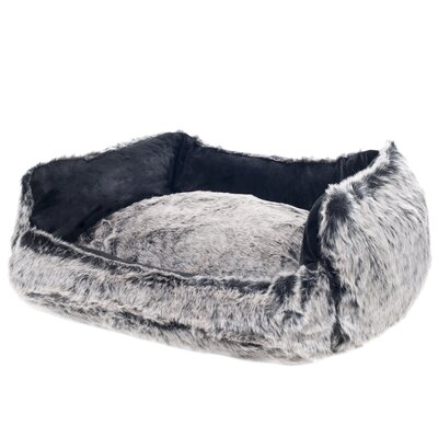Faux Fur Mink Dog Bed Size: Medium (22 x 17)