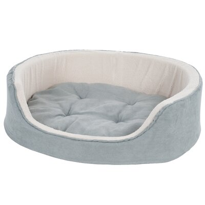 Suede Cuddle Round Pet Bed Size: Small (23 x 18)