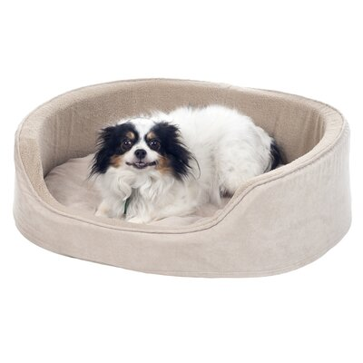 Cuddle Round Suede Terry Nest Bolster Size: Medium (20 W x 18 D x 5.5 H), Color: Clay