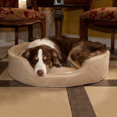 Cuddle Round Suede Terry Nest Dog Bed Size: Extra Large (30 L x 27 W), Color: Clay
