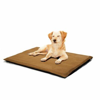 Orthopedic Foam Dog Mat Color: Camel, Size: Large (32 L x 24 W)