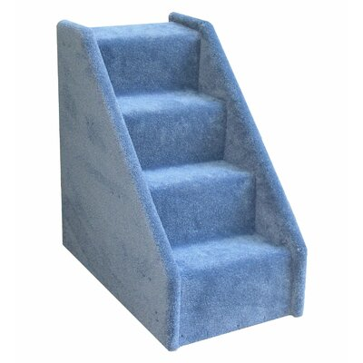 Bears Stairs� Mini Carpeted 4 Step Pet Stair Color: Blue