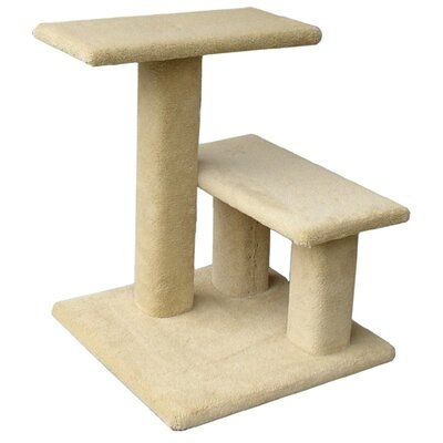 The Mini Lucy 24 Cat Perch Option: Without Curved Shelf, Color: Beige