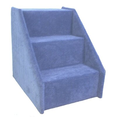 Bears Stairs� Carpeted 3 Step Pet Stair Color: Blue