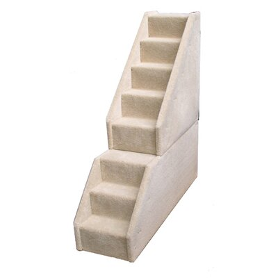 Bears Stairs Mini Carpeted 8 Step Pet Stair Color: Gray
