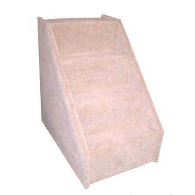 Bears Stairs 4 Step Carpeted Pet Stairs Color: Gray