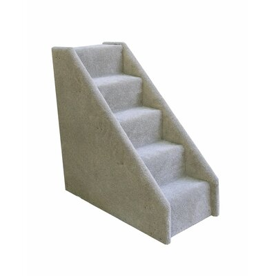 Bears Stairs 5 Step Mini Carpeted Pet Stairs Color: Gray