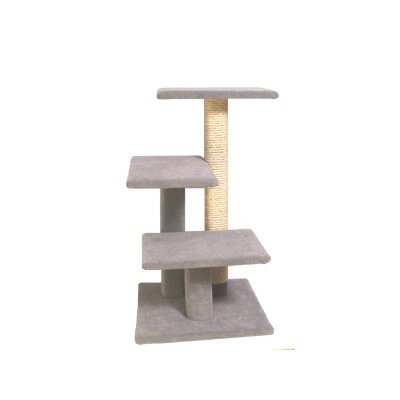 """31"""" Lucy Cat Tree Color: Beige, Option: With Sisal Rope"""