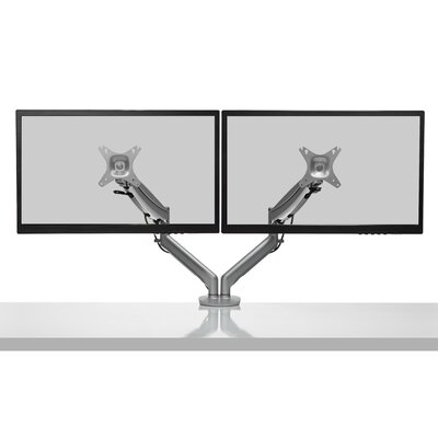DMG2000 Dual-Monitor Height Adjustable Universal 2 Screen Desk Mount Finish: Silver