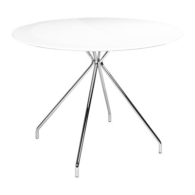 Artika Round Dining Table Top Finish: Gloss White