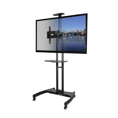 Mobile Fixed Floor TV Stand for 37-65 Flat Panel Screens