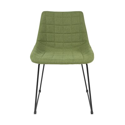Grace Side Chair Upholstery: Green