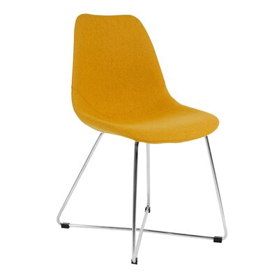 Wool Side Chair Finish: Stainless Steel, Upholstery: Yellow