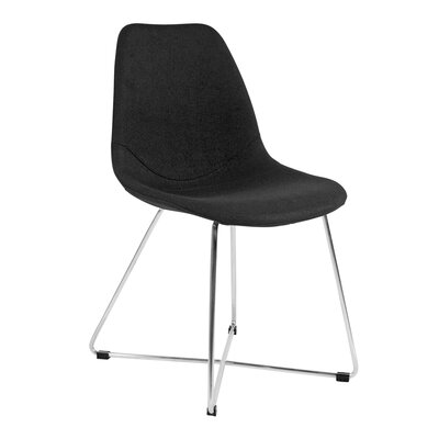 Wool Side Chair Upholstery: Black, Finish: Stainless Steel